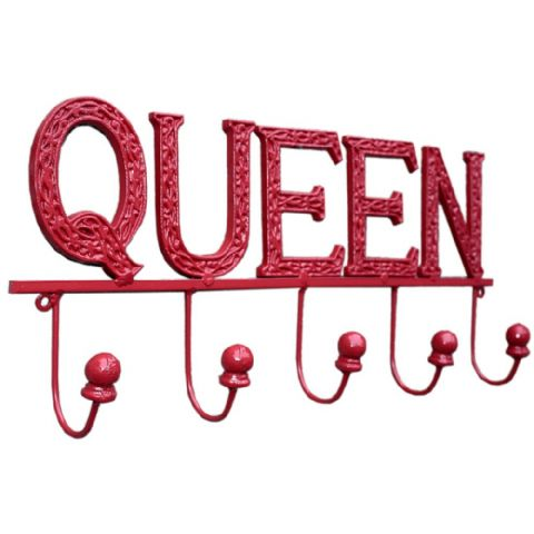 Metal Queen Bedroom Hooks Red
